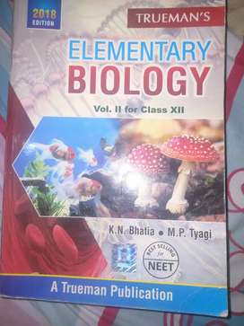 trueman's Biology elementary book,vol-2, for entrance exam NEET