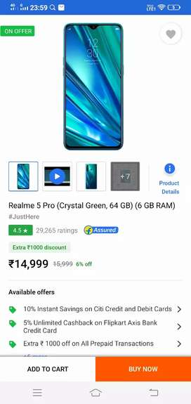 REALME 5 PRO (6GB+64GB) crystal green  SEALED PACKED