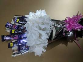 Home made, chocolate bouquets