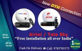 New DTH Connection offer Tata Sky, Airtel.
