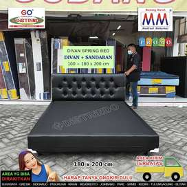 Divan + Sandaran Springbed Ukuran 100 sampai 180cm Panjang 200cm