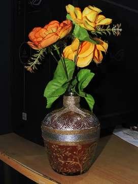 Glass painted Flower pot