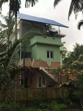 3 storeyed house for sale Rs. 60 lakhs at NH bypass Thykoodam