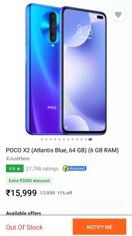 Poco X2 seal pack  6gb ram with bill