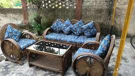 Premium Cane Sofa Set in good condition.