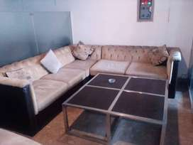 Inter Wood Sofa 7 Seat with Center Table