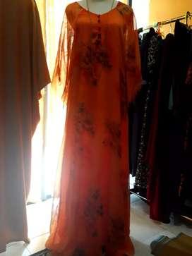 Dress sifon orange