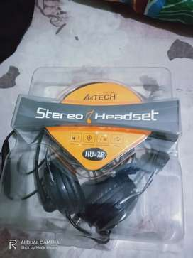A4Tech Stereo Headset model HU-7P, USB port and noise cancelling mic
