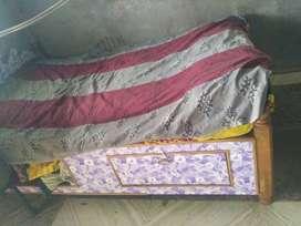 Brown Wooden Bed Frame