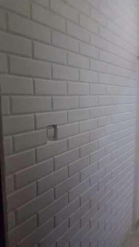 Bata tempel putih terakota pengganti wallpaper batu alam paving block