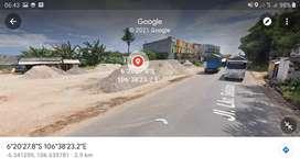 Disewakan Tanah di Jalan Lingkar Selatan Tangerang 2400 m2