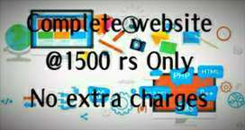Website in  1500rs only/digital marketing/E-commerce