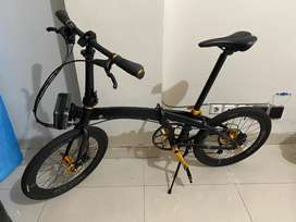 Jual Sepeda Element Ecosmo Limited Edition Black Gold