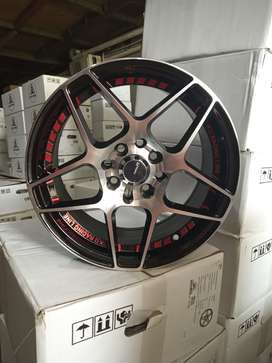 jual velg racing  N0836 HSR R15X7 H8X100-114,3 ET35 BP/RED