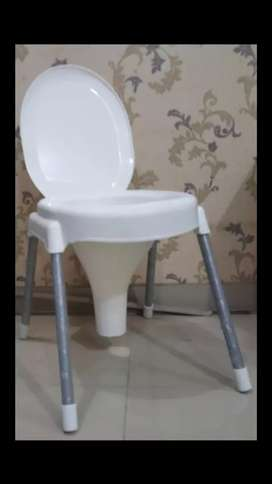 Commode Chair Non-Rust,Heavy Capacity Washroom Chair(Delivery Availbl)