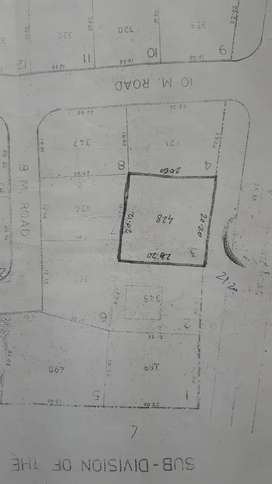 430 sqmt, chorao plot,main road touching, 1 km from ferry