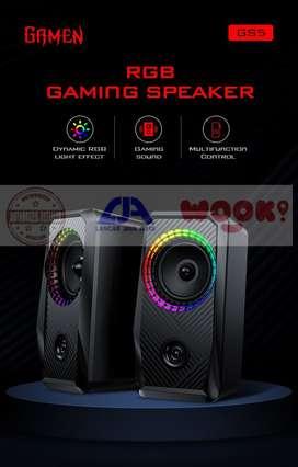 Speaker Gaming RGB gamen GS5 dengan RGB LED Bisa diatur garansi 1 thn