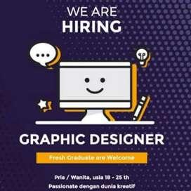 Lowongan kerja Di cari graphic design desain grafis