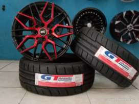 Paket velg+ban mobil racing murah ring 15 semislick GT Champiro SX2