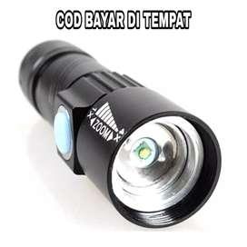 TaffLED Senter LED Mini USB Rechargeable Q5 LED 2000 Lumens - Black