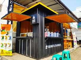 Booth Container Usaha Dagang Kreatif Cafe Kontainer Karya Anak Bangsa