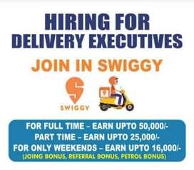 Get 15,000 bonus free for joining swiggy plus petrol allowance