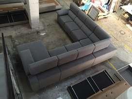L shaped 7 seater designer sofa