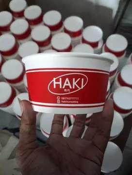Gelas plastik cup berbagai ukuran dengan cetak logo custom
