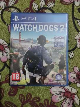 Watch Dogs 2 PS4 Game Used only 4 days