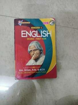 English book bsc first year  sem 1