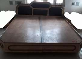 Wooden Double Bed | Semi perfect Condition | No storage