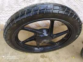 Genuine alloy with tyre(Bike k sath k h company ke)