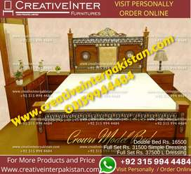 Double bed setavailable center table iron stand sofa chair Wardrobe