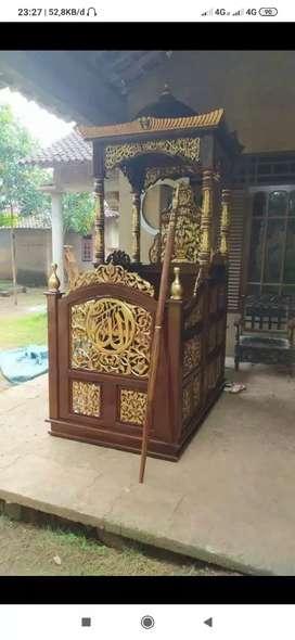 Mimbar mebel masjid kubah