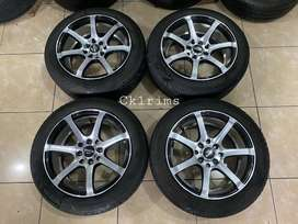 Enkei R15 Ban Bridgestone 85% Jazz,Yaris,Brio,Agya,March,Vios dll