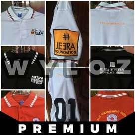 Kaos Polo Shirt Distro Pria Custom Bordir Seragam Komunitas Oke Murah