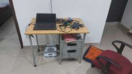 Study table and rotating chair
