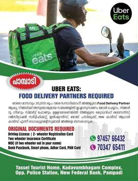 Food delivery job in uber