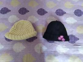 2 combo woolen cap