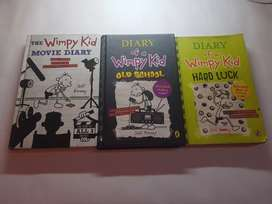 Diary of a wimpy kid Children's books (Set of 3)