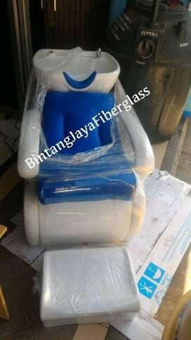 kursi keramas rangka putih