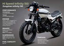 Hi Speed Infinity 150cc on easy Installments without advance