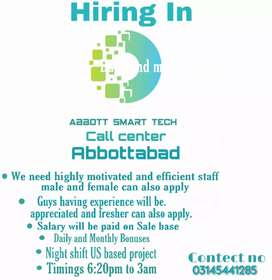 i need fresh and experienced agent for my call center night shift job