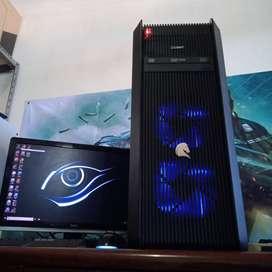 PC Komputer rakitan i7 haswell With RX 570 8GB Gaming Render Desain OK