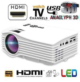 LOW PRICE BEST HOME CINEMA HD PROJECTOR USB HDMI AV TV SD AUX INPUT