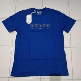 Kaos Skechers biru original