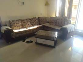 Sofa L shape and table