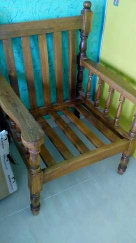 2 Teak wood Chairs,grab it before it left