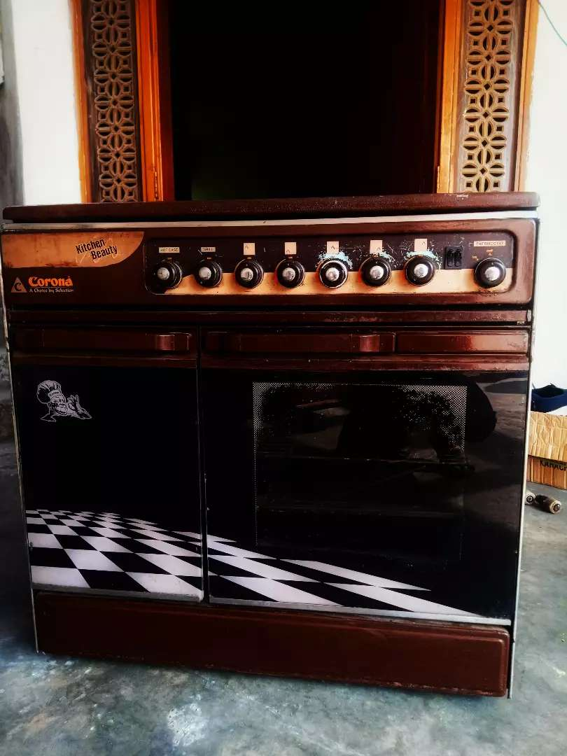Cooking range with good condition both electric and gas oven