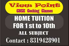 HOME TUTION 1st to 8th all subject